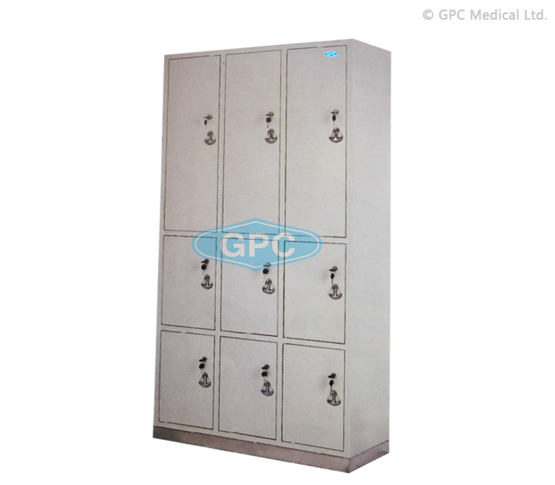Locker with Nine Compartments